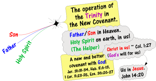 oporation of trinity in new covenant